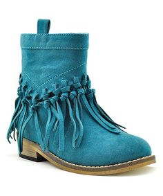 Loving this Teal Boomerang Ankle Boot on #zulily! #zulilyfinds