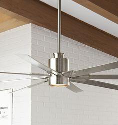 Raven LED Ceiling Fan Brushed Nickel & Silver Blades