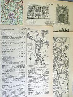 Vintage paper pack 30 vintage pages atlas by LindenTreeVintage