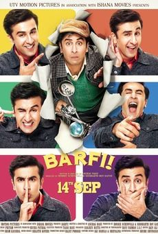 Well with the name, to the casting o the music and the leads characters' role, everything about this film Barfi is interesting, that intrigues many to come to the theater to catch the movie on the first day release, which falls on the of September. Deaf Movies, Imdb Movies, Movie Songs, Top Movies, Movie Tv, Hindi Movie, In Cinemas Now, Anurag Basu, Bollywood Posters