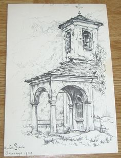 Anton Pieck Page 2 Bookworm Dark Art Drawings, Pencil Art Drawings, Art Drawings Sketches, Cool Drawings, Landscape Pencil Drawings, Landscape Sketch, Architecture Drawing Sketchbooks, Architecture Concept Drawings, City Drawing