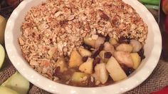 Apple and pear nut crumble