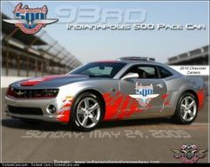 2010 Chevrolet Camaro to be Pace Car for Indy 500 - http://sickestcars.com/2013/05/24/2010-chevrolet-camaro-to-be-pace-car-for-indy-500/