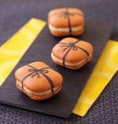Macarons carrés cadeau de Noël - les meilleures recettes de cuisine d'Ôdélices