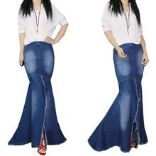 Online shopping for Skirts with free worldwide shipping - Page 3 Fishtail Skirt, Trumpet Skirt, Europe Fashion, Mermaid Skirt, Ruffle Skirt, Stretch Fabric, Bell Bottom Jeans, Denim Skirt, Elegant
