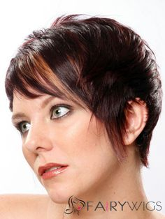 Worthwhile Short Straight Capless Real Human Hair Wigs
