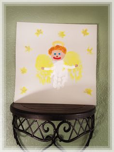 Christmas toddler craft | handprint angel