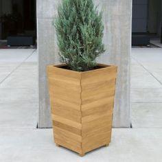 Studio tall square planter w/ commercial-grade liner