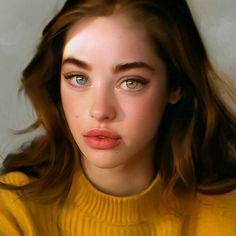 Female Portrait, Portrait Art, Portrait Photography, Girl Portraits, Digital Art Girl, Digital Portrait, Pretty Eyes, Beautiful Eyes, Beautiful Models