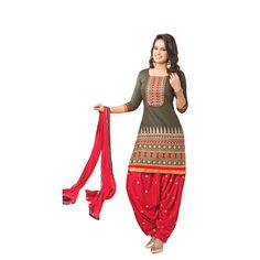 Buy Decent Wears Green Cotton Dress Material by Decent Wears, on Paytm, Price: Rs.1150