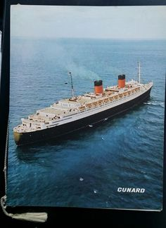 Farewell cruise of Queen Elizabeth. Dinner Menu 1968