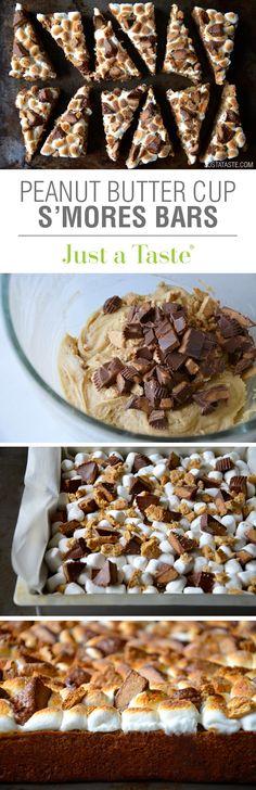 Peanut Butter S'mores Bars #recipe on justataste.com