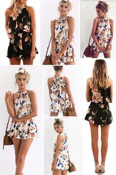 bb548a6a004 Sexy Off Shoulder Floral Print Summer Playsuit Women 2018 Halter Sleeveless  Ruffles Wide Leg Short Jumpsuit Beachwear Overalls - Online Shopping in  USA  ...