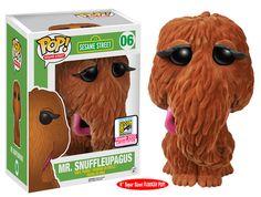 "Funko announcing their San Diego Comic Con exclusives wave 6   Sesame Street - 6"" Flocked Mr. Snuffleupagus"