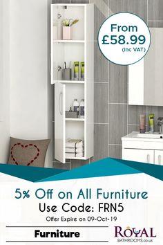 Bravo! 🥳🥳 Enjoy flat 5% sale on all furniture items including bathroom packs. T/C applied. #BathroomFurniture #BathroomVanityUnits #WCUnits #CabinetsAndStorage #BathroomMirrors #HighQualityFurniture #Bathroom #RoyalBathrooms
