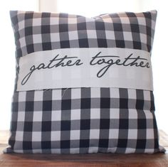 Gather Together Pillow by CCurate on Etsy