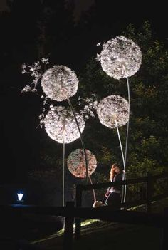 Our steel sculpture dandelions are made from stainless steel wire with copper leaves. The normal garden size dandelions stand around 6 foot high