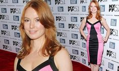 Alicia Witt captivates in pink and black dress at About Time premiere