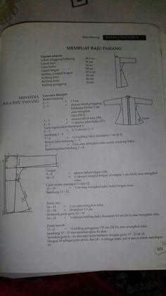 Pola baju kurung pahang Sewing Tutorials, Sewing Hacks, Sewing Crafts, Sewing Patterns, Sewing Projects, Tutorial Sewing, Sewing For Dummies, Sewing Basics, Pattern Making Books