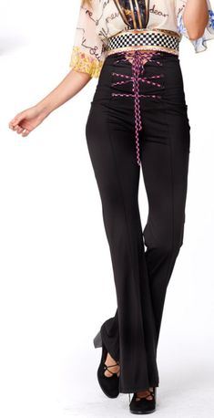 Uniquely designed flare pant with corset ties at waist! You'll never ant to take off these super comfy and sexy pant! High Waisted Flares, Pink Turquoise, Flare Pants, Stylish Dresses, Summer Collection, Corset, Ties, Comfy, Fashion