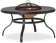 Amazon.com: Strathwood Whidbey Cast-Aluminum Fire Pit with Table: Patio, Lawn & Garden