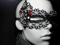 Fantasy Glass Face Mask glass chainmaille by ElementalArtJewelry, $275.00