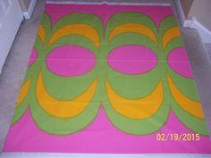 "Marimekko Fabric - KAIVO - Pink/Green - 54"" X 57""  #Marimekko"