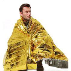 Aliexpress.com: Comprar 210 * 160 CM Emergency Blanket 1 unids supervivencia cortina del rescate exterior impermeable espacio Foil Thermal de manta de cama fiable proveedores…