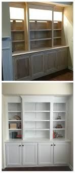 bookshelves living room diy built amazing diy built in buffet shelving from plywood and pine