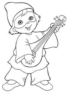 disegni per carnevale per bambini