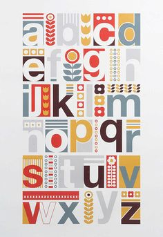 I have finally reached the end of my Maisons du Monde marathon. It has been seven days of posts - so thank you for sticking with me - and. Typography Inspiration, Graphic Design Inspiration, Typography Design, Scandinavian Pattern, Scandinavian Design, Alphabet Art, Alphabet Posters, Abc Poster, Grafik Design