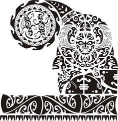 Shoulder piece, turtle, fish, manta ray, lizards, sea horse and tiki mask