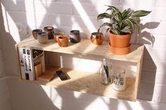 OSB Wooden Box Shelf // Made in Brooklyn // by conorcoghlan