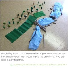 Storytelling Provocation with 3-4 year olds. Constructivism. Reggio Inspired Practice.