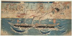 Congratulations on Maritime Security for All Eternity, 1863 by Kyosai (1831 - 1889)