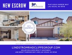 CONGRATULATIONS to our BUYERS!!! 9649 Aqua Harbor Way in Southwest Las Vegas is #INESCROW! We are thrilled for the opportunity to serve you and your Real Estate Goals! #AntionetteBallard #JasonLindstrom #DavidRadcliffe #LivinLRG #LindstromRadcliffeGroup #KW #Realtor #RealEstate