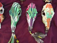 more painted deer skulls