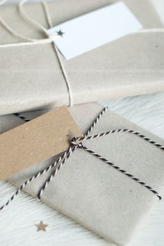 simple wrap ❥ using butcher's twine. (Got mine at Hobbycraft)