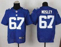 Nike New York Giants 67 Brandon Mosley Blue Elite NFL Jerseys