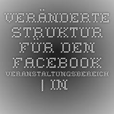 Veränderte Struktur für den Facebook-Veranstaltungsbereich | In Sachen Kommunikation