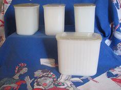 Hazel Atlas white milk glass refrigerator dishes