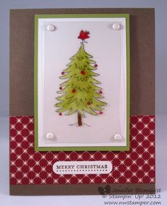 Northwest Stamper » Jennifer Blomquist, Stampin' Up! Demonstrator » Christmas Card with the Stained Glass Technique
