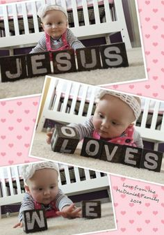 I love the Mary&Martha blocks in this baby's photo shoot! How cute! Never thought about using them for this!!!