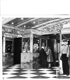 Roxy ticket lobby last day of performances before close March 29, 1960