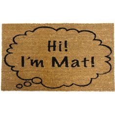 Give your guests a good laugh as they tidy their shoes and boots with this coir doormat, featuring a word bubble graphic and charming typography.