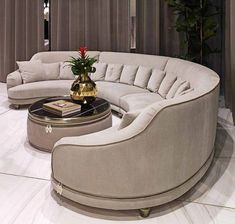 If you're replacing an old sofa and are contented with its size, just measure the measurements of the furniture. A round sofa may be an artistic piece to adorn your room, rather than only a s… Living Room Sofa Design, Living Room Modern, Living Room Interior, Living Room Designs, Sofa Furniture, Luxury Furniture, Furniture Design, Cheap Furniture, Modern Sofa Designs