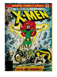 (such a great story arch) Marvel Comics Retro: The X-Men Comic Book Cover #101, Phoenix, Storm, Nightcrawler, Cyclops (aged)
