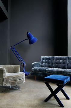 Home Decoration Living Room Decor Inspiration, Interior Design Inspiration, Colour Inspiration, Design Ideas, Dark Interiors, Colorful Interiors, New Furniture, Furniture Design, Plywood Furniture