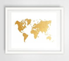 Tons of gorgeous printable world map prints blursbyaishop on tons of gorgeous printable world map prints blursbyaishop on etsy 490 apartment life at lee pinterest nursery quotes gold nursery and gold gumiabroncs Gallery