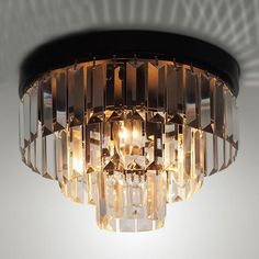 """Cheap crystal ceiling light, Buy Quality ceiling lights directly from China room light Suppliers: SpecLED Cake Crystal Ceiling Light  Dimensions30CM :11.8""""D X 8.3""""H 40CM : 15.7""""D X 10.6"""""""